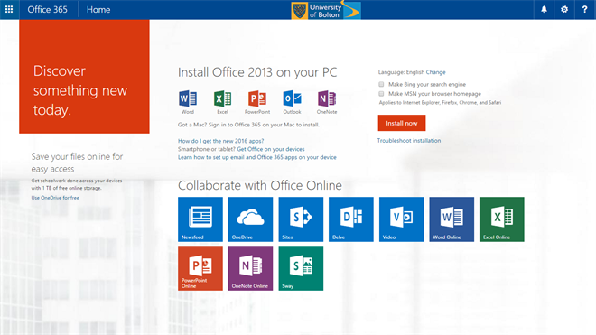 Download Office screen