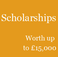 Apply for a scholarship worth up to £15,000