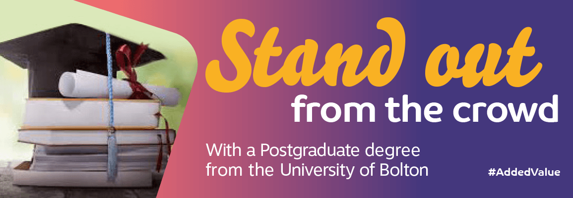 #AddedValue Postgraduate Degree From The University Of Bolton