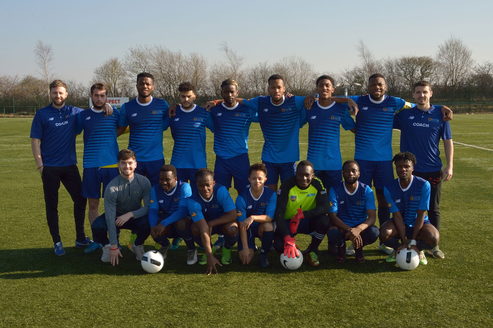 University of Bolton Students Union Football Squad 2018 19