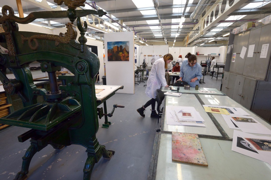 The University of Bolton print room