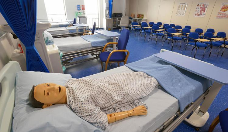 At the University of Bolton Biomedical Engineering school, a a view of a Clinical Simulation Suite (CSS) in Bolton One