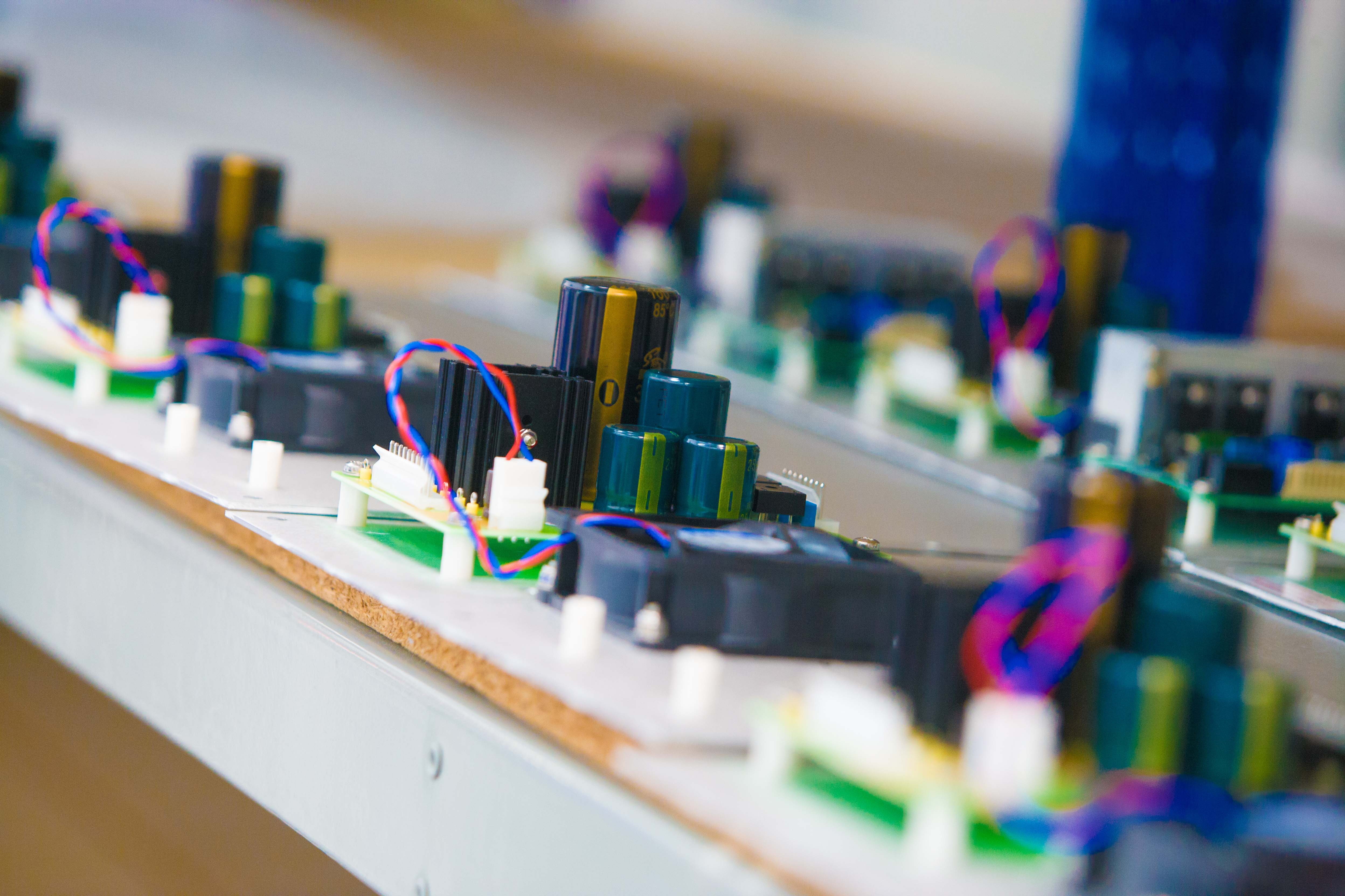 From the University of Bolton Electrical Engineering department, Electronics circuit board