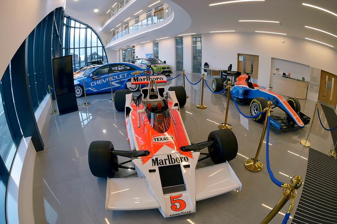 Racing car in the NCME at the University of Bolton
