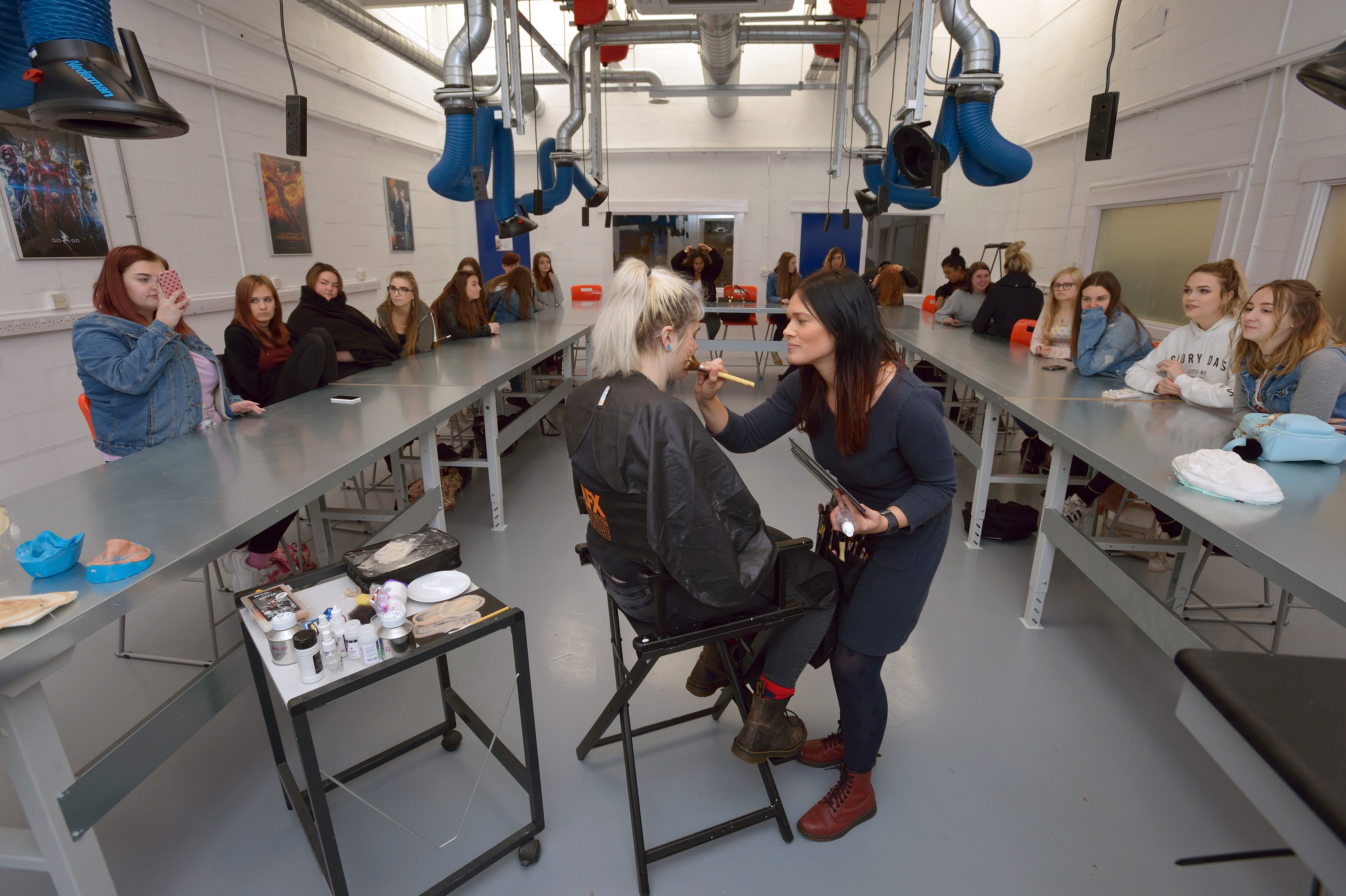 Make Up Demonstration within the School of Creative Technologies