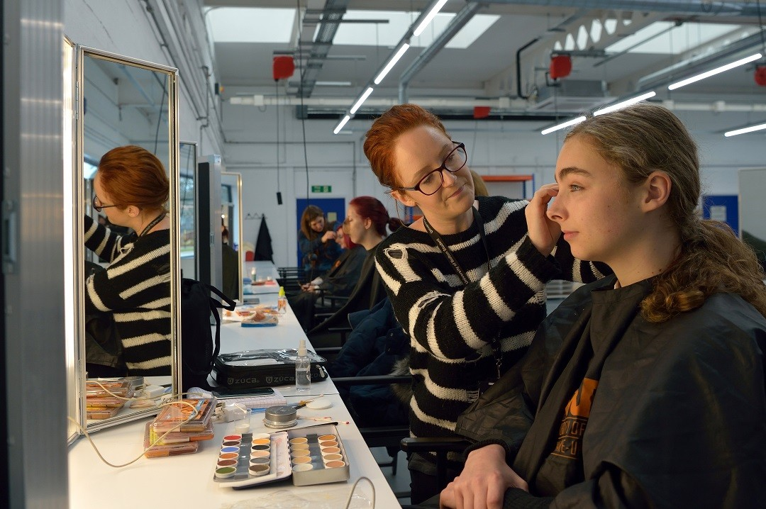 From the University of Bolton SVFX department, a student participates in Make Up practice