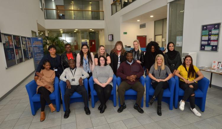 Students on the MA Social Work Programme