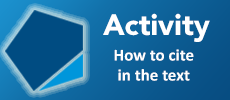 Activity - How to cite in the text
